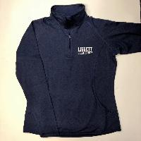 Ladies Quarter Zip True Navy Performance Pullover - Volleyball