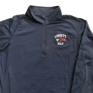 Adult Quarter Zip Navy Performance Pullover - Golf