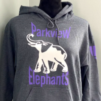 Parkview Elephants Heather Grey Youth Hoodie