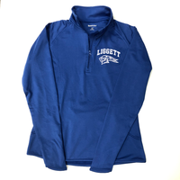 Ladies Quarter Zip Royal Performance Pullover