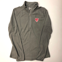 Ladies Quarter Zip Pearl Grey Microfleece Pullover