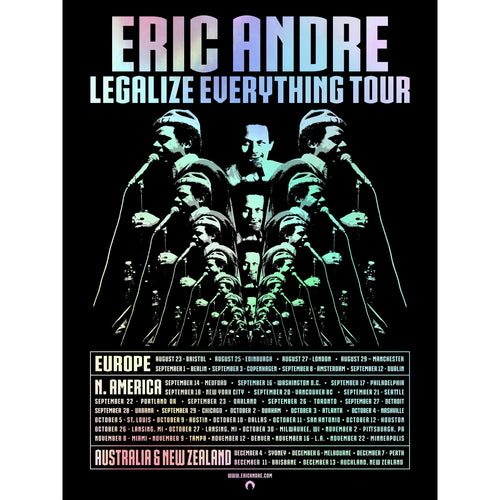 Eric Andre Legalize Everything Tour Poster