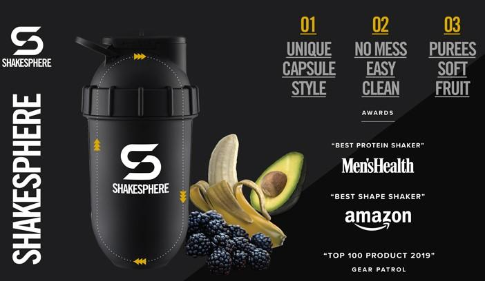 Multi-award winning shaker bottles