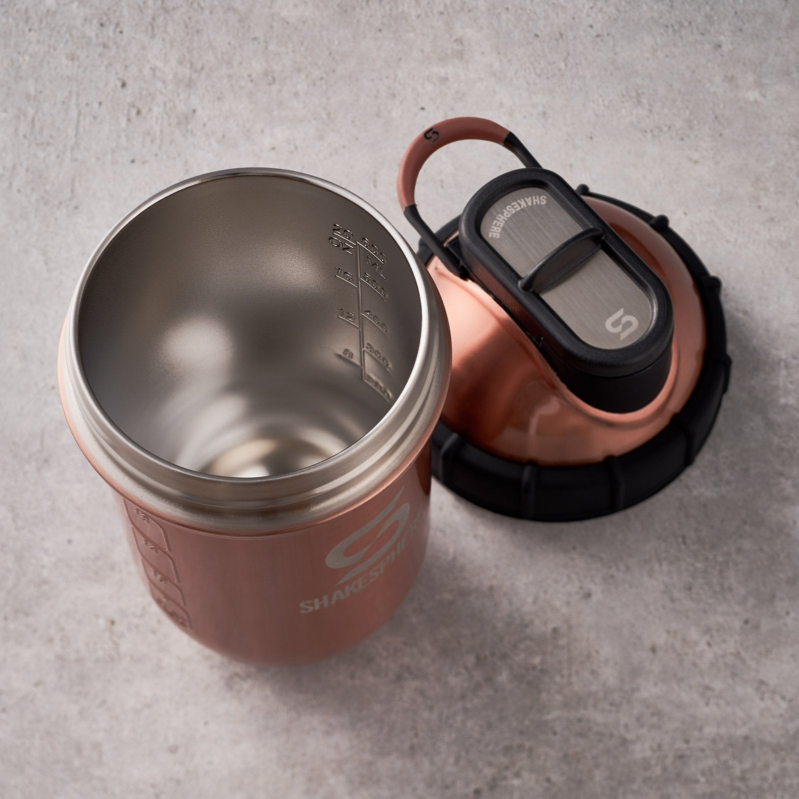 24.6 Fl Oz ShakeSphere Tumbler Double Wall Steel Copper