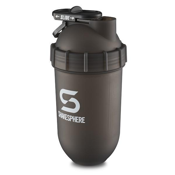700mls ShakeSphere Tumbler Frosted Black with White Logo - Free Delivery Included
