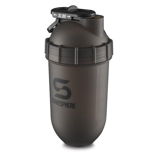 700mls ShakeSphere Tumbler Frosted Black with Black Logo - Free Delivery Included