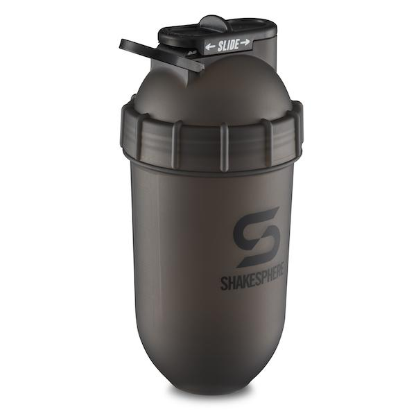 700mls ShakeSphere Tumbler Original Frosted Black/Black Logo - ShakeSphere
