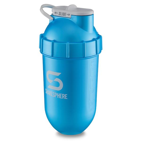 700mls ShakeSphere Tumbler Cyan With Metallic Finish and White Logo - Free Delivery Included