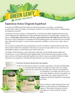EXPERIENCE AVENA ORIGINALS SUPERFOOD