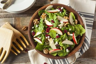 AVOCADO, APPLE, CRANBERRY AND WALNUT SALAD