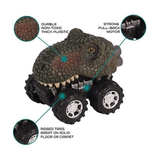 Mini Pull Back Dinosaur Cars (Pack of 6)
