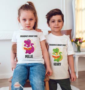 Bright Dino Personalised Dinosaur T-Shirt