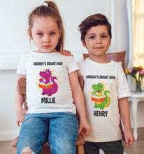 Load image into Gallery viewer, Bright Dino Personalised Dinosaur T-Shirt