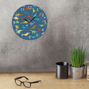 Personalized Dinosaur Wall Clock