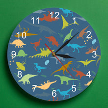 Load image into Gallery viewer, Personalized Dinosaur Wall Clock