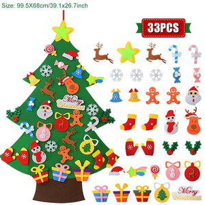 DIY Felt Christmas Tree with Ornaments
