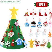 Load image into Gallery viewer, DIY Felt Christmas Tree with Ornaments