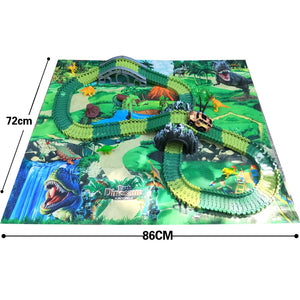 Dinosaur World Track Set with Play Mat