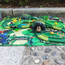 Load image into Gallery viewer, Dinosaur World Track Set with Play Mat