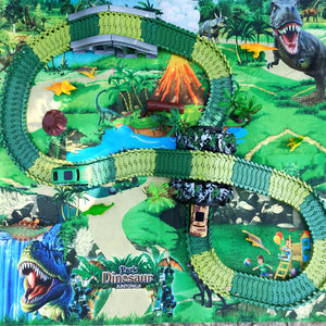 Dinosaur World Track Set with Playmat