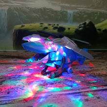 Load image into Gallery viewer, Transforming Dinosaur LED Helicopter