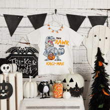 Load image into Gallery viewer, Mummysaurus Personalised Halloween T-Shirt