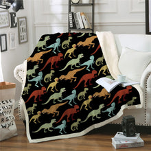 Load image into Gallery viewer, Dinosaur Throw Blanket