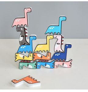 Dinosaur Stacking Blocks Game