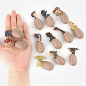Realistic Semi-Hatched Dinosaur Eggs (Set of 12)
