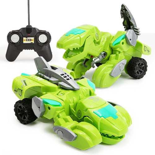 RC Transforming Dinosaur LED Car