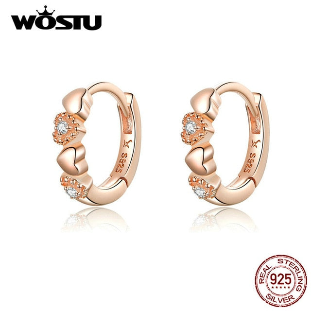 WOSTU Hot Sale 100% 925 Sterling Silver Stud Earrings For Women Opal Licorne Earrings Party Wedding Fashion Jewelry