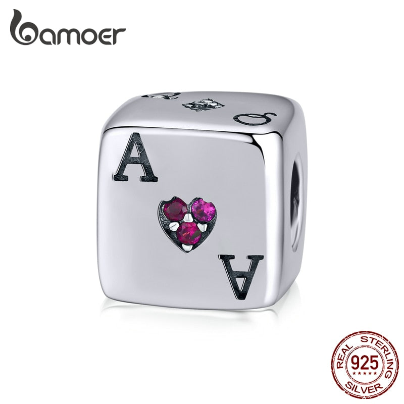 bamoer Magic Forest Adventure Collection Sterling Silver 925 Cube Dice Metal Beads for Women Charms Bracelet Bangle SCC1440