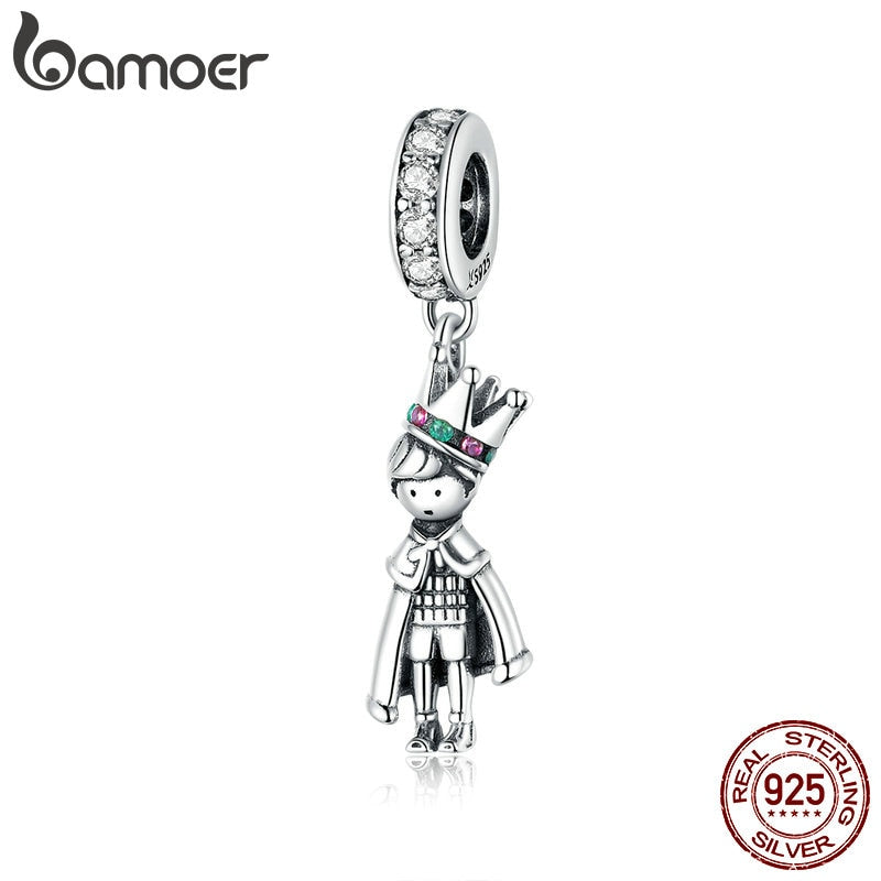 bamoer 2020 Prince of the Sea Pendant Charms for Original Bracelet or Necklace 925 Sterling Silver beads Bijoux diy SCC1584