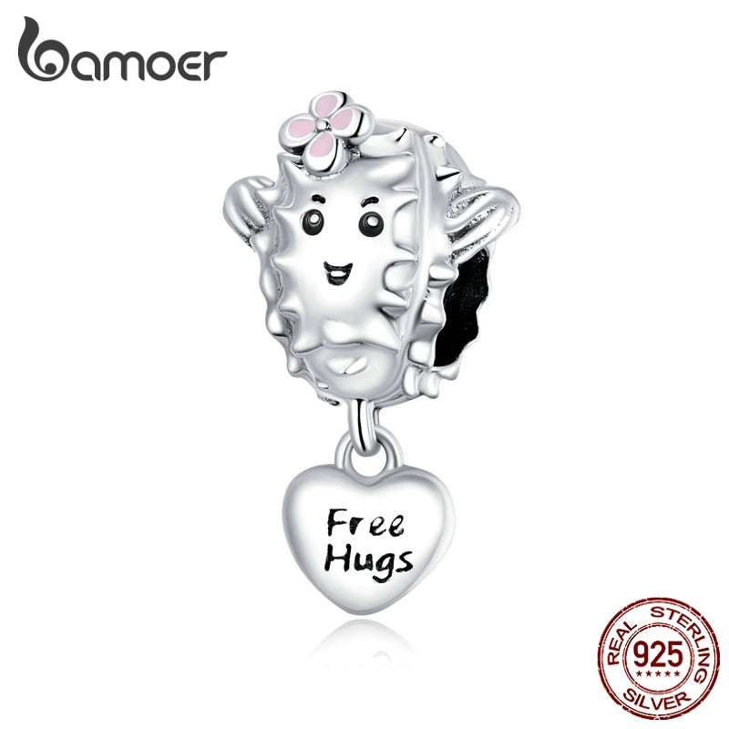 bamoer Lovely Succulent Beads 925 Sterling Silver Charm for Original Silver Bracelet or Bangle DIY  Jewelry make  SCC1642
