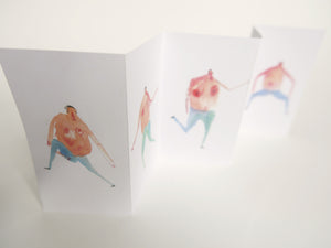 Art Zine - Mini Concertina book || FIVE DANCING MEN
