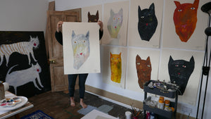 The Giant Cat Collection - Original Painting - Poe