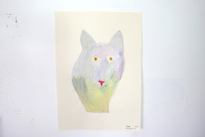 The Giant Cat Collection - Original Painting - Pumpkin