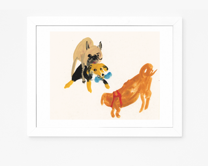 Tales from the Dog Park | Giclee Art Print