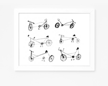 Some Bicycles | Giclee Art Print