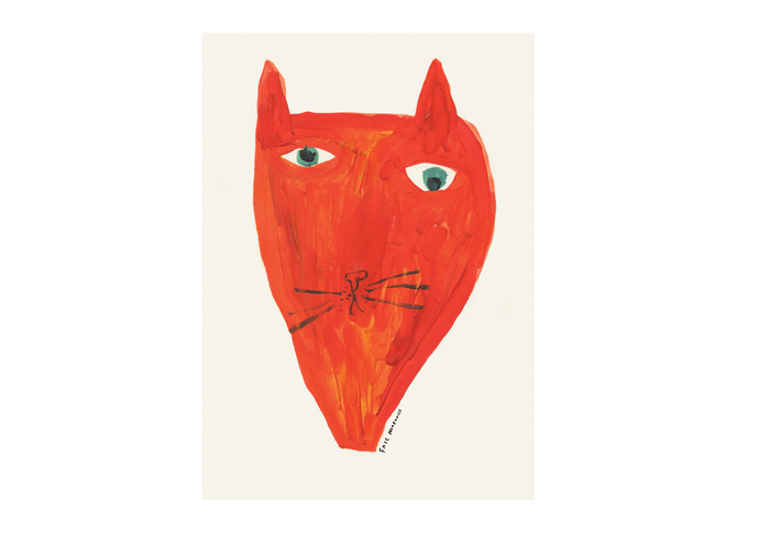 Big Red Cat Face | Poster Print