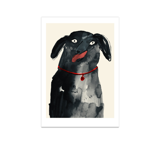 Happy Dog | Giclee Art Print