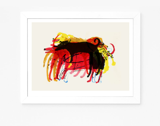 A Pile of Dogs | Giclee Art Print