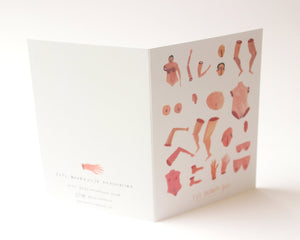 The Human Body - Quirky, funny and rude greetings / christmas /birthday / valentines day card