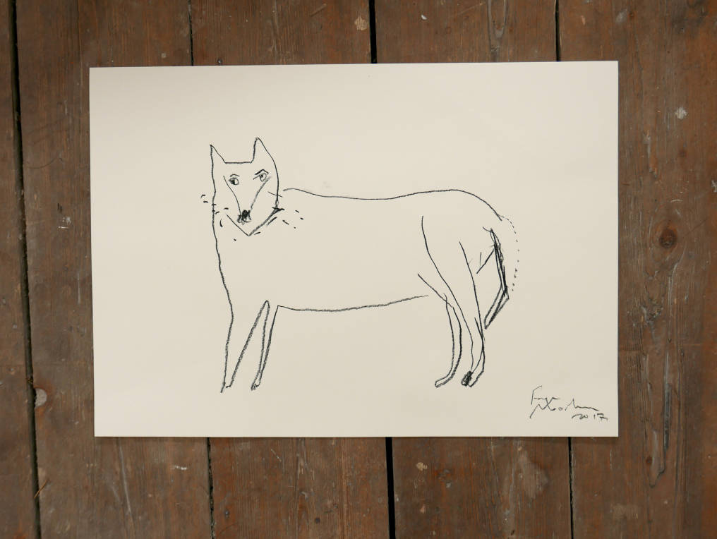 WOLF | Original Charcoal Drawing | Faye Moorhouse