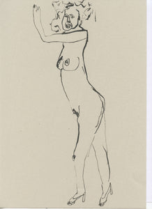 Original Faye Moorhouse Illustration - NUDE LADY