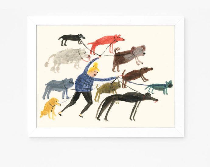 Dog Lady | Giclee Art Print