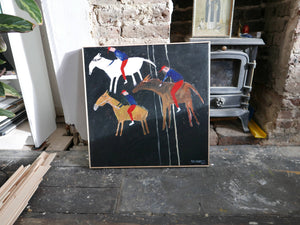 The Horse Race || Painting on Canvas || Faye Moorhouse