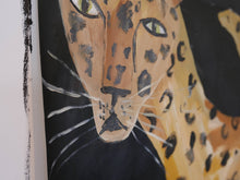 LEOPARD | Original Faye Moorhouse Painting | Acrylic paint on stuck together paper | 116 x 84 cm