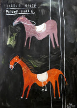 Fierce Horse Fierce Horse 004 | Large Painting on Paper