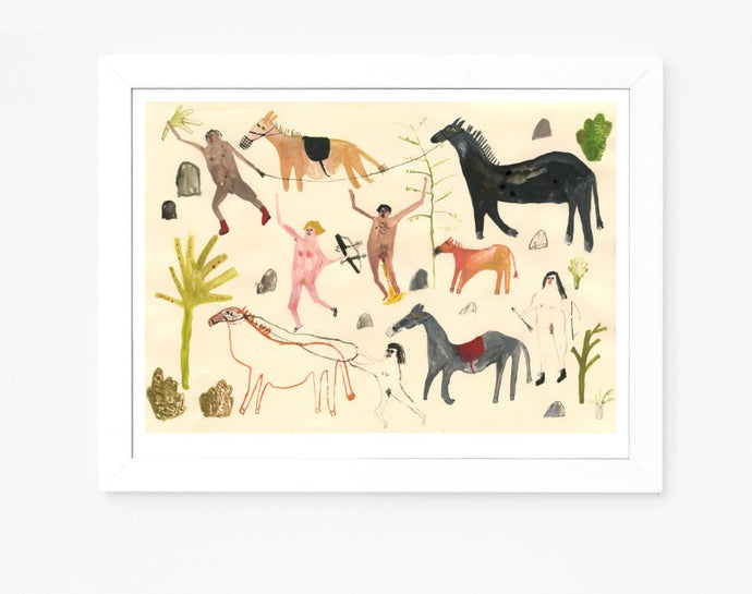 Giclee Art Print || Through They Came All Fierce and Strange || FAYE MOORHOUSE